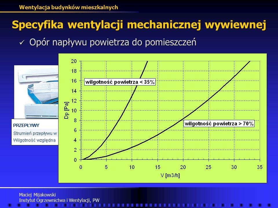 Specyfika wentylacji mechanicznej wywiewnej