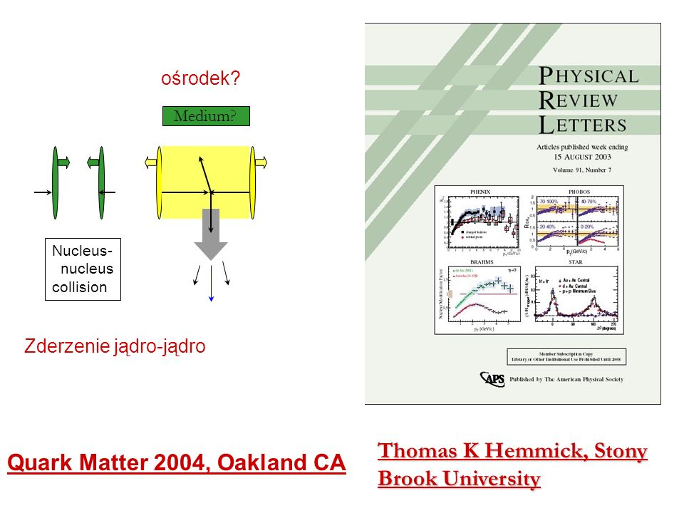Thomas K Hemmick, Stony Brook University Quark Matter 2004, Oakland CA