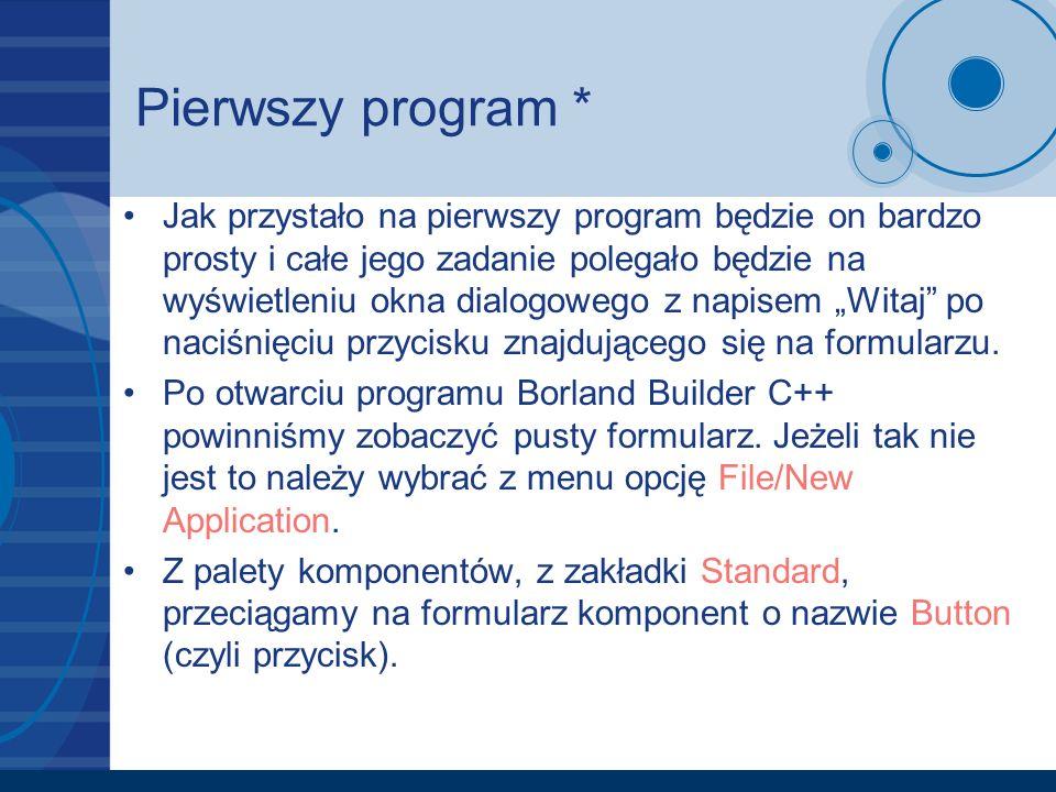 Pierwszy program *