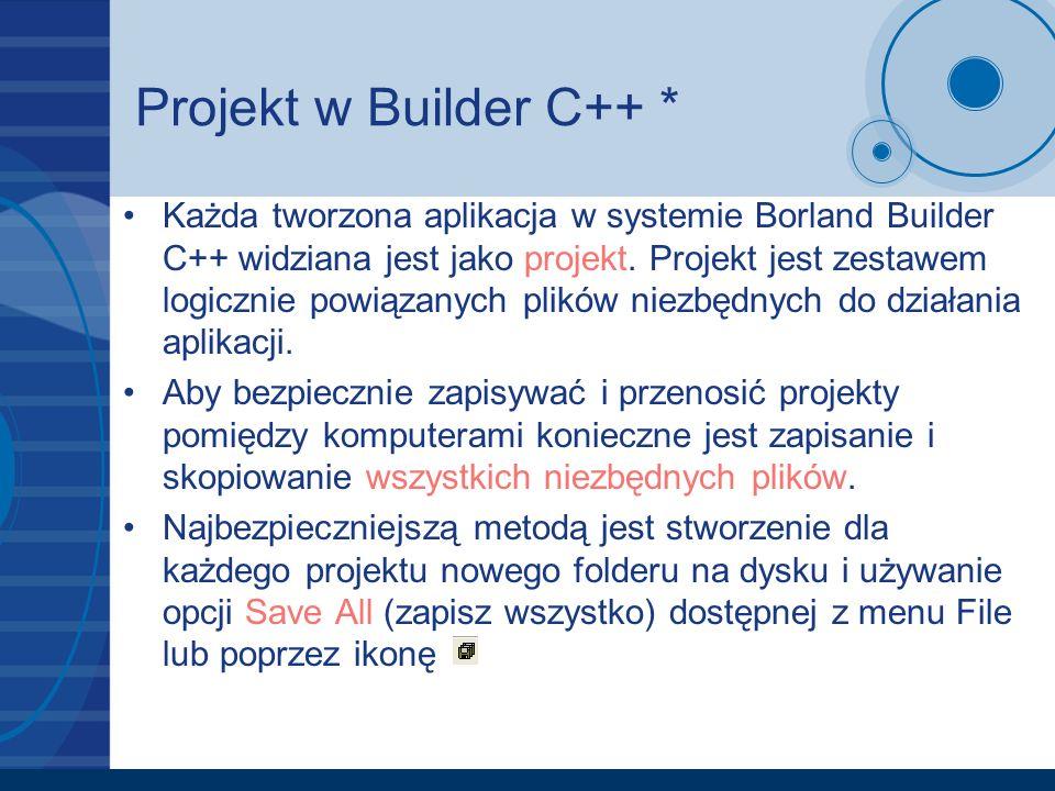 Projekt w Builder C++ *