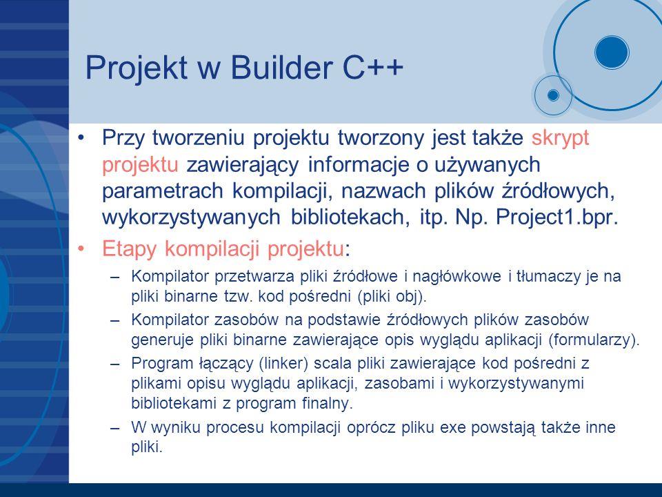 Projekt w Builder C++