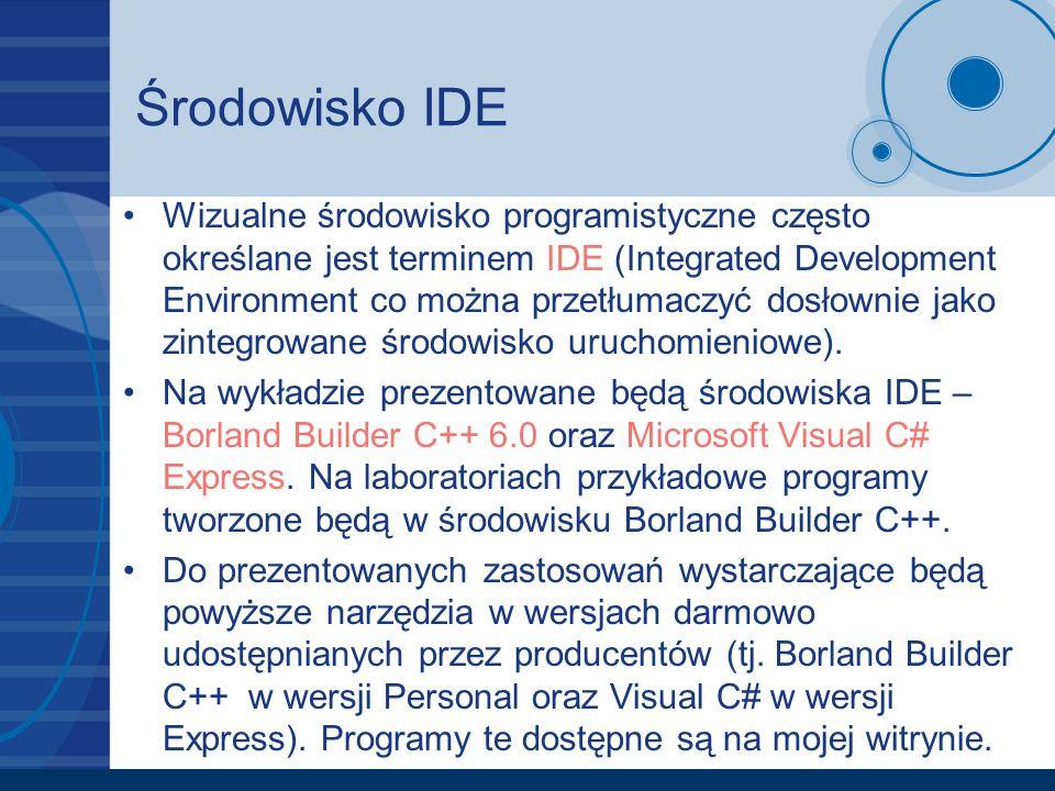 Środowisko IDE
