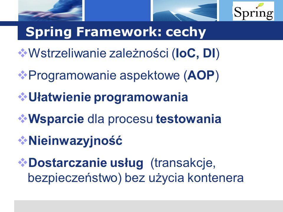 Spring Framework: cechy