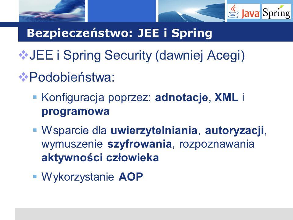 Bezpieczeństwo: JEE i Spring