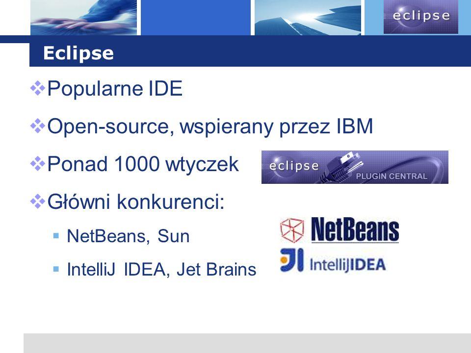Open-source, wspierany przez IBM Ponad 1000 wtyczek Główni konkurenci: