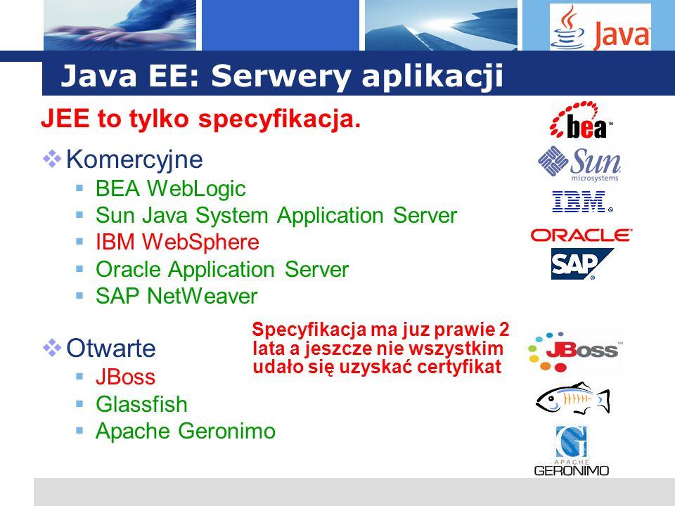 Java EE: Serwery aplikacji