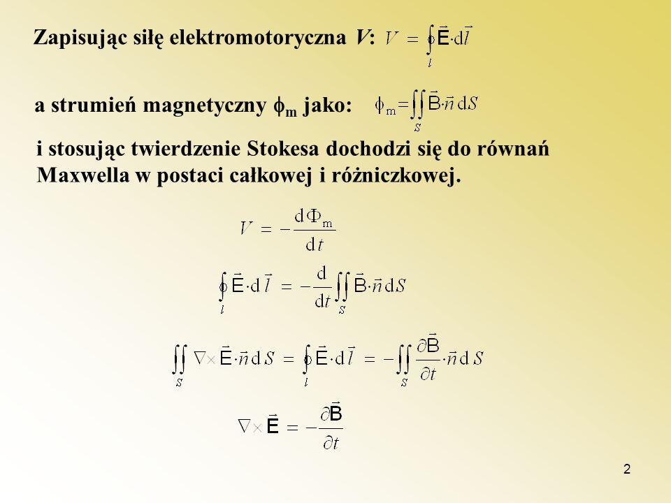 Zapisując siłę elektromotoryczna V: