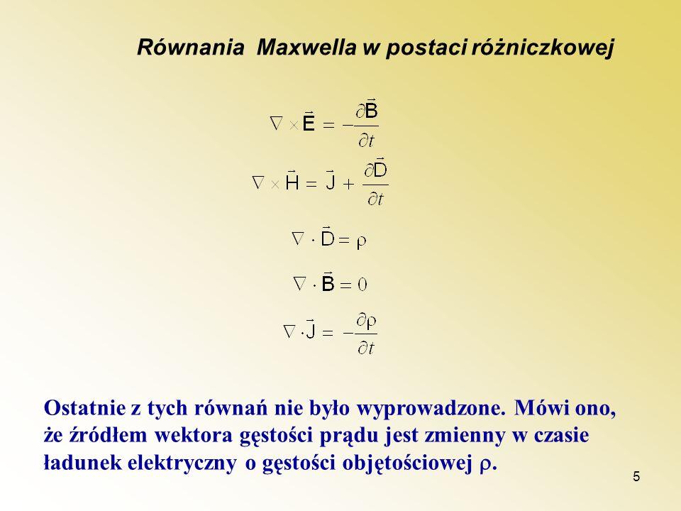 Równania Maxwella w postaci różniczkowej