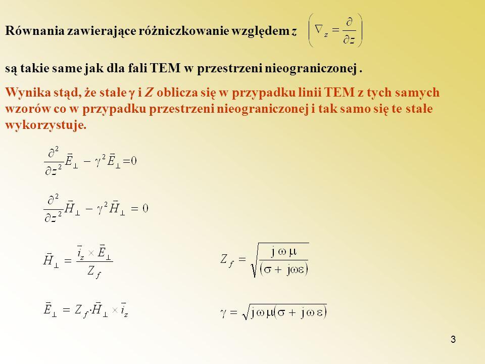 Równania zawierające różniczkowanie względem z