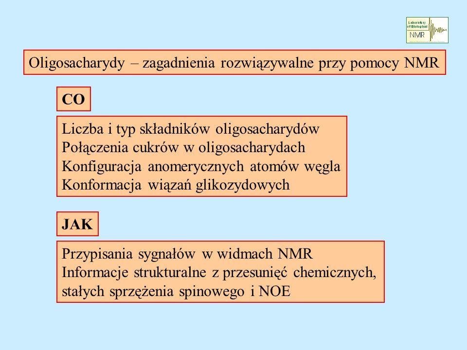 Oligosacharydy – zagadnienia rozwiązywalne przy pomocy NMR