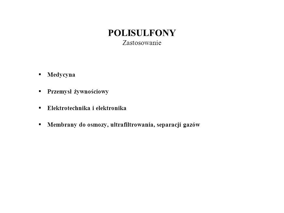 POLISULFONY Zastosowanie