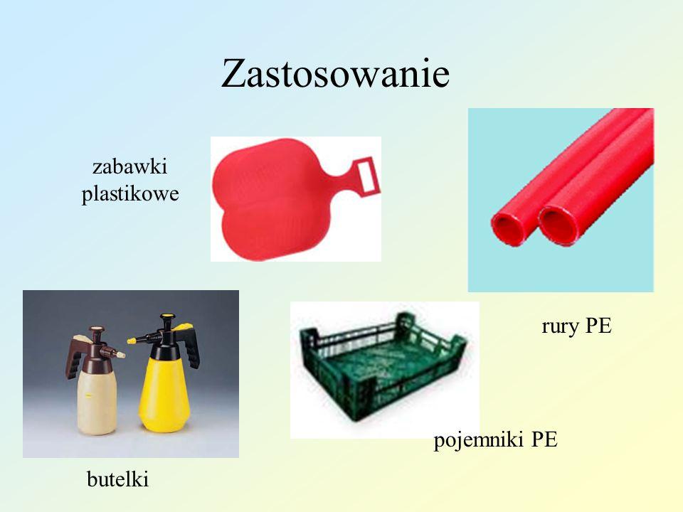 Zastosowanie zabawki plastikowe rury PE pojemniki PE butelki