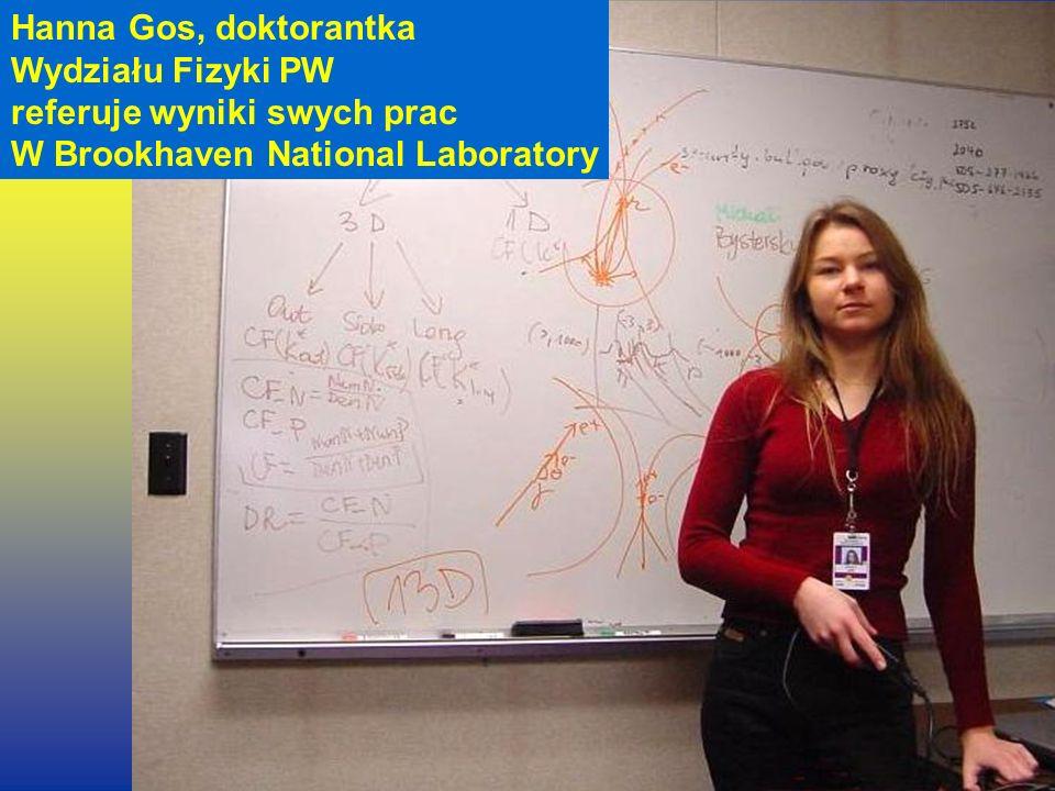 ...jako ludzie Hanna Gos, doktorantka Wydziału Fizyki PW