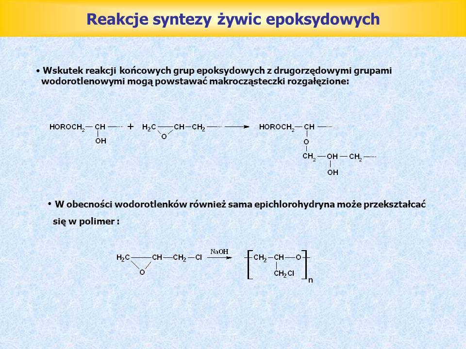 Reakcje syntezy żywic epoksydowych