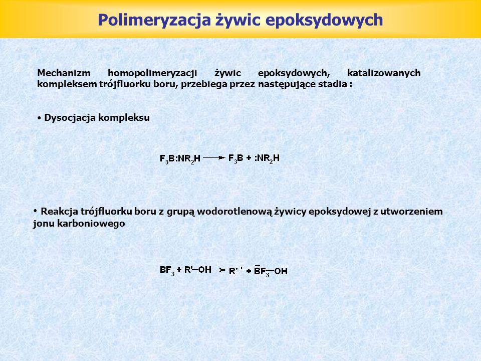 Polimeryzacja żywic epoksydowych