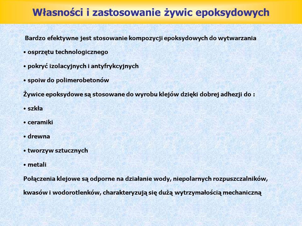 Własności i zastosowanie żywic epoksydowych