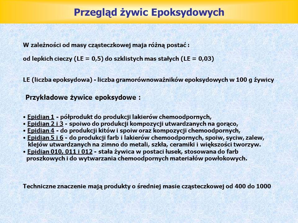 Przegląd żywic Epoksydowych