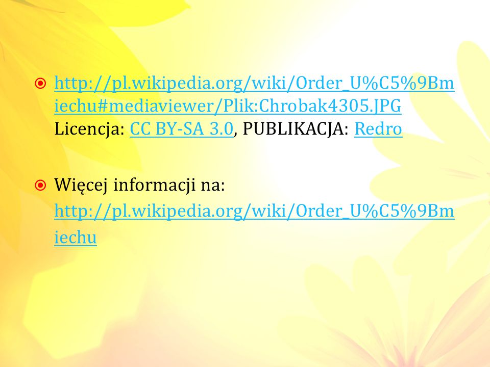 http://pl.wikipedia.org/wiki/Order_U%C5%9Bmiechu#mediaviewer/Plik:Chrobak4305.JPG Licencja: CC BY-SA 3.0, PUBLIKACJA: Redro
