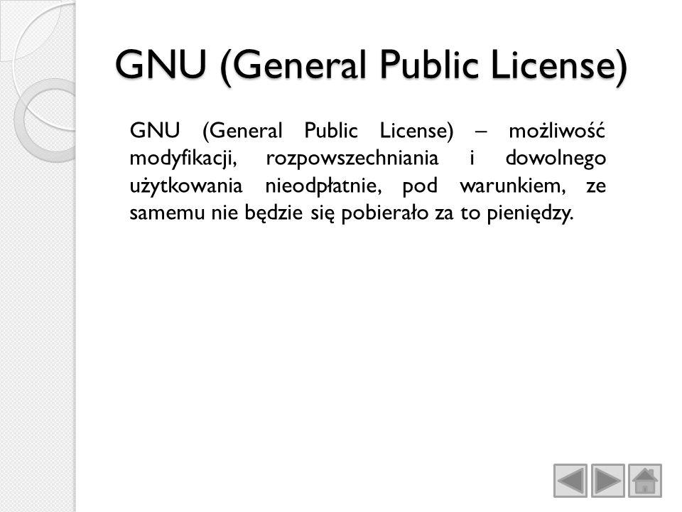 GNU (General Public License)