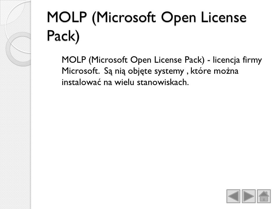 MOLP (Microsoft Open License Pack)