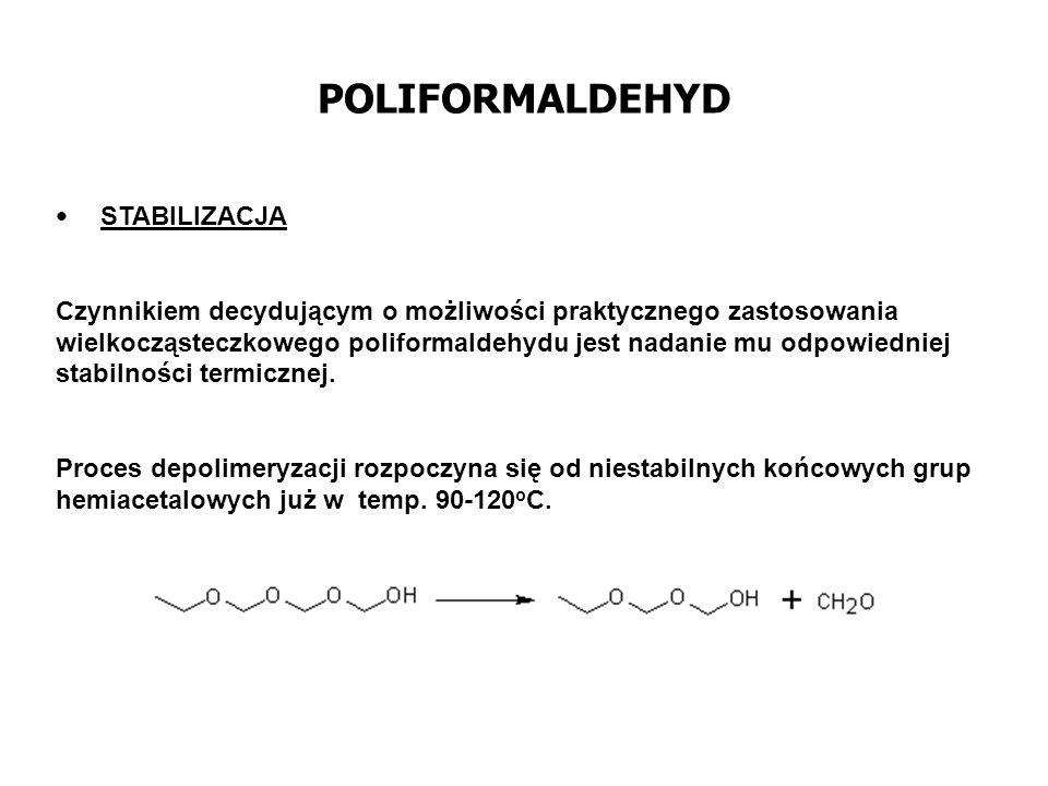 POLIFORMALDEHYD STABILIZACJA