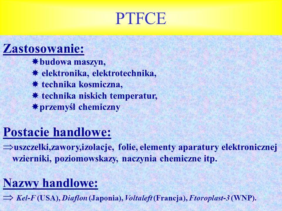PTFCE Zastosowanie: Postacie handlowe: Nazwy handlowe: