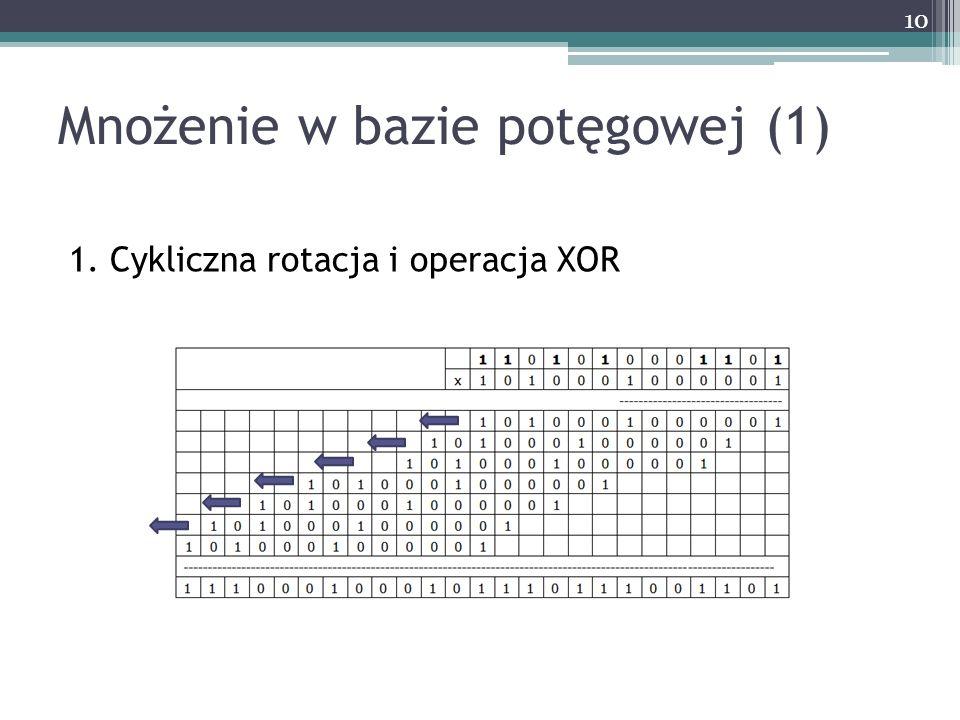 Mnożenie w bazie potęgowej (1)