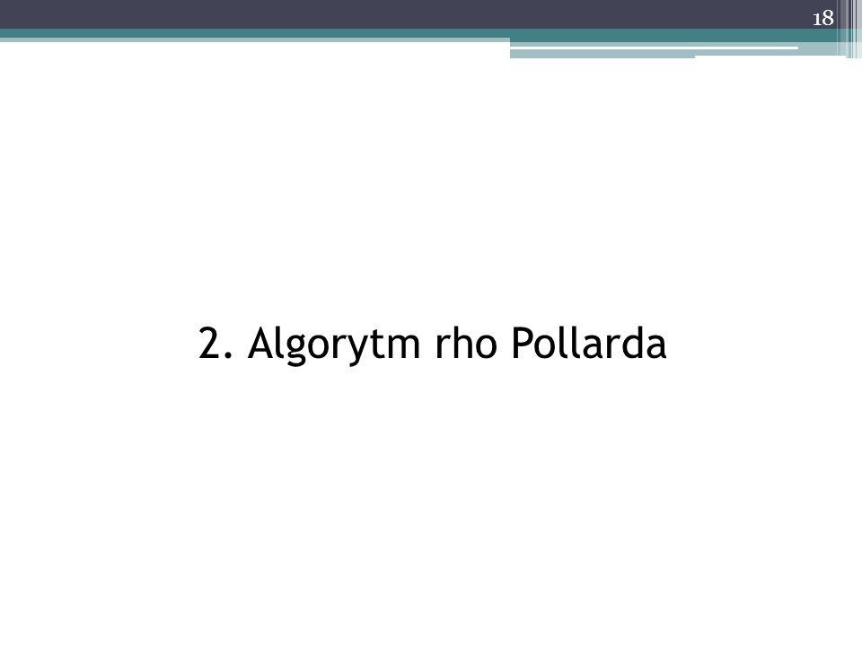 2. Algorytm rho Pollarda