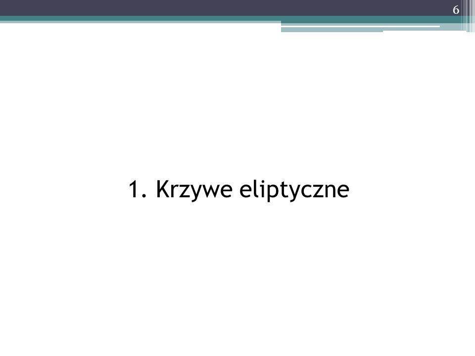 1. Krzywe eliptyczne