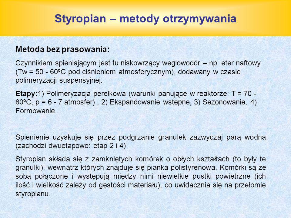 Styropian – metody otrzymywania