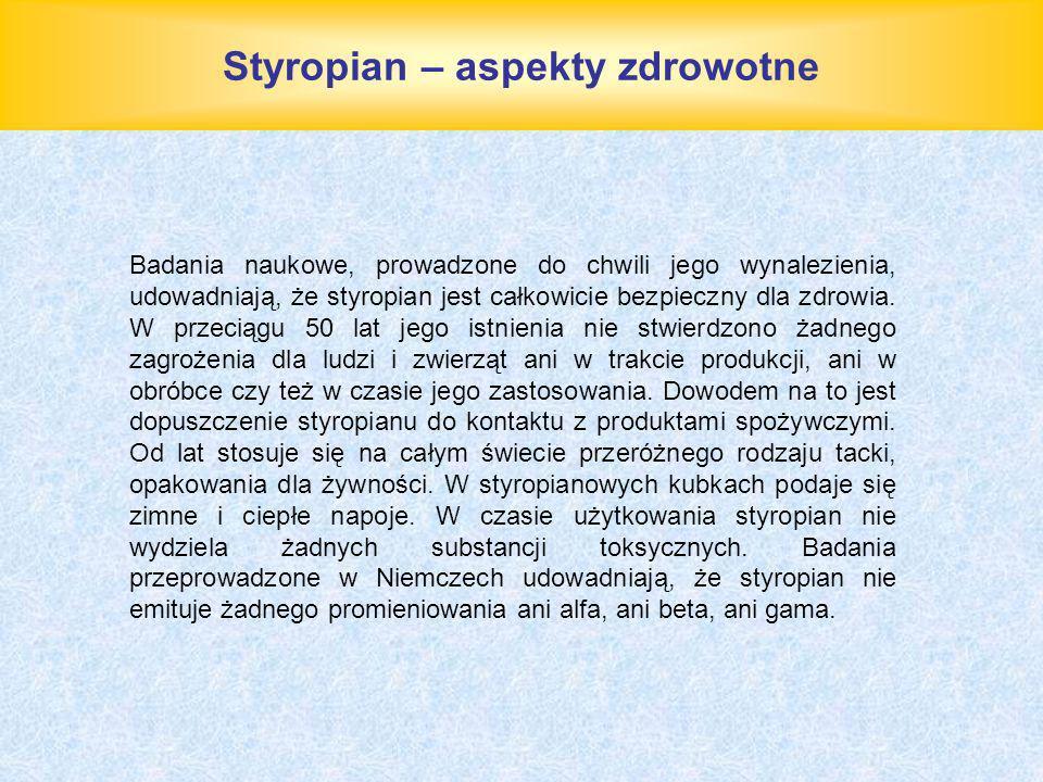 Styropian – aspekty zdrowotne