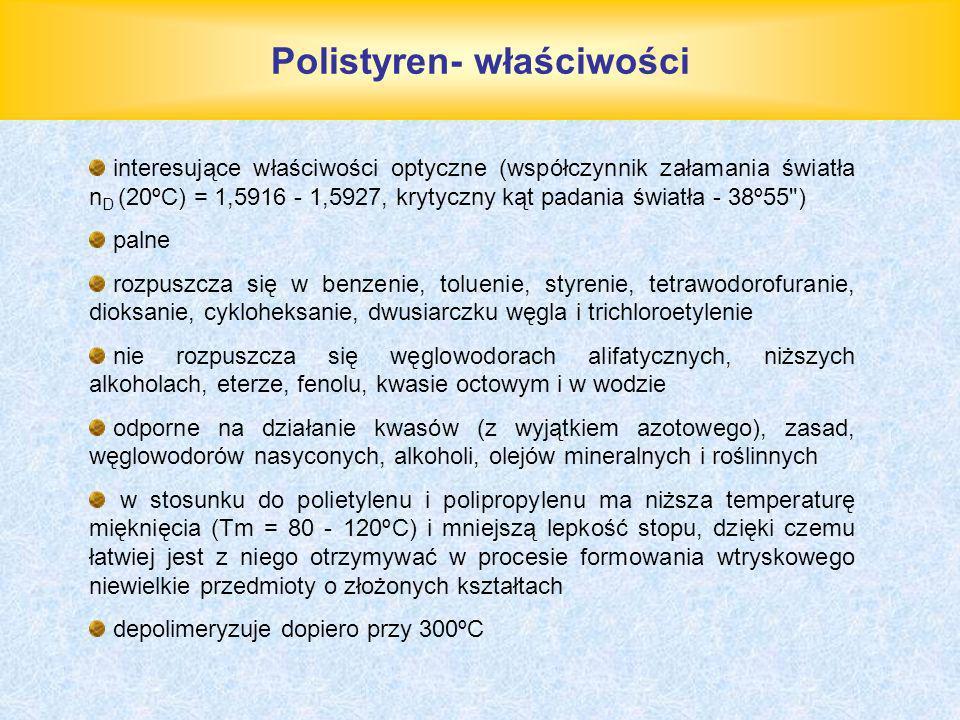 Polistyren- właściwości