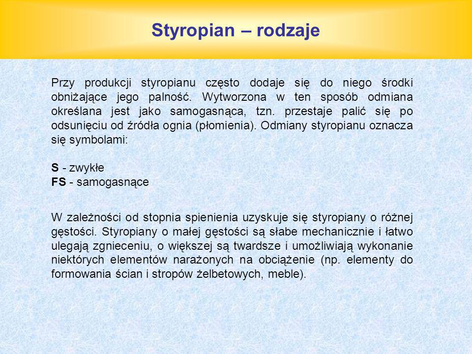 Styropian – rodzaje