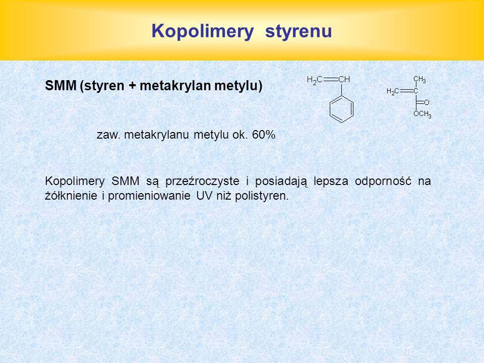Kopolimery styrenu SMM (styren + metakrylan metylu)
