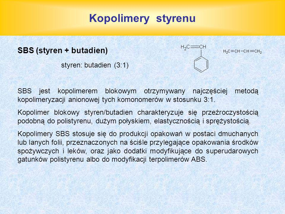 Kopolimery styrenu SBS (styren + butadien) styren: butadien (3:1)