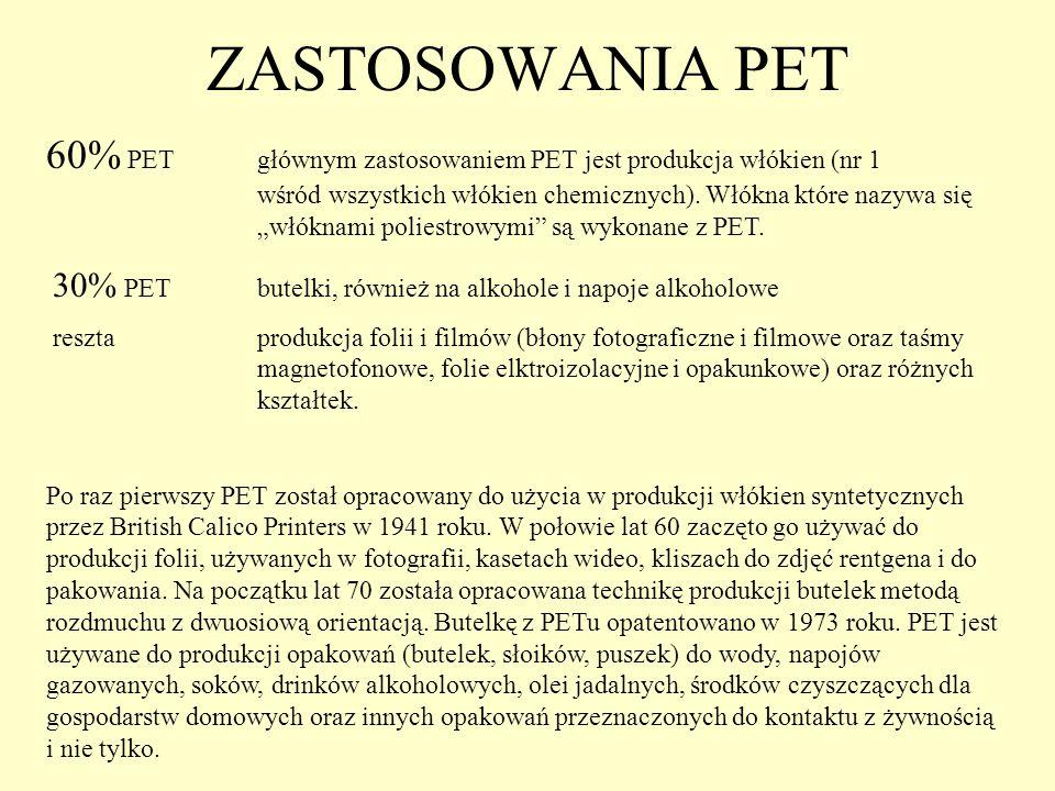 ZASTOSOWANIA PET