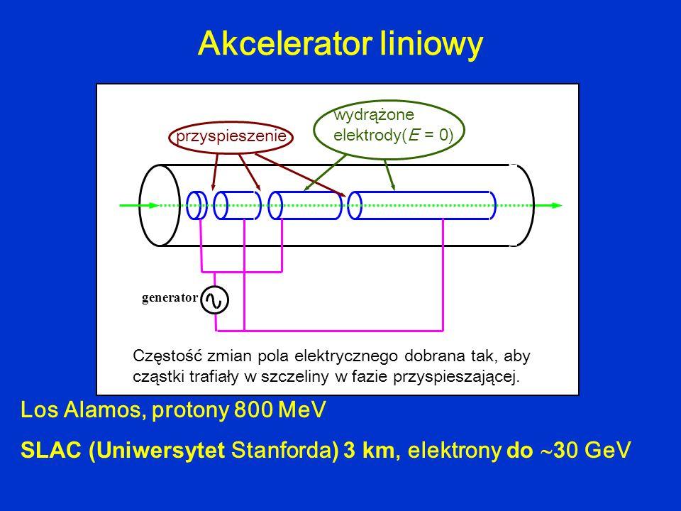 Akcelerator liniowy Los Alamos, protony 800 MeV