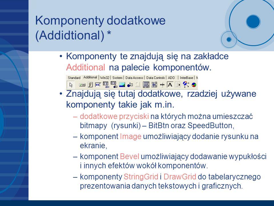 Komponenty dodatkowe (Addidtional) *