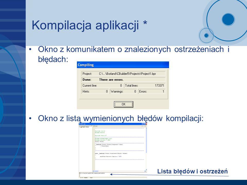 Kompilacja aplikacji *