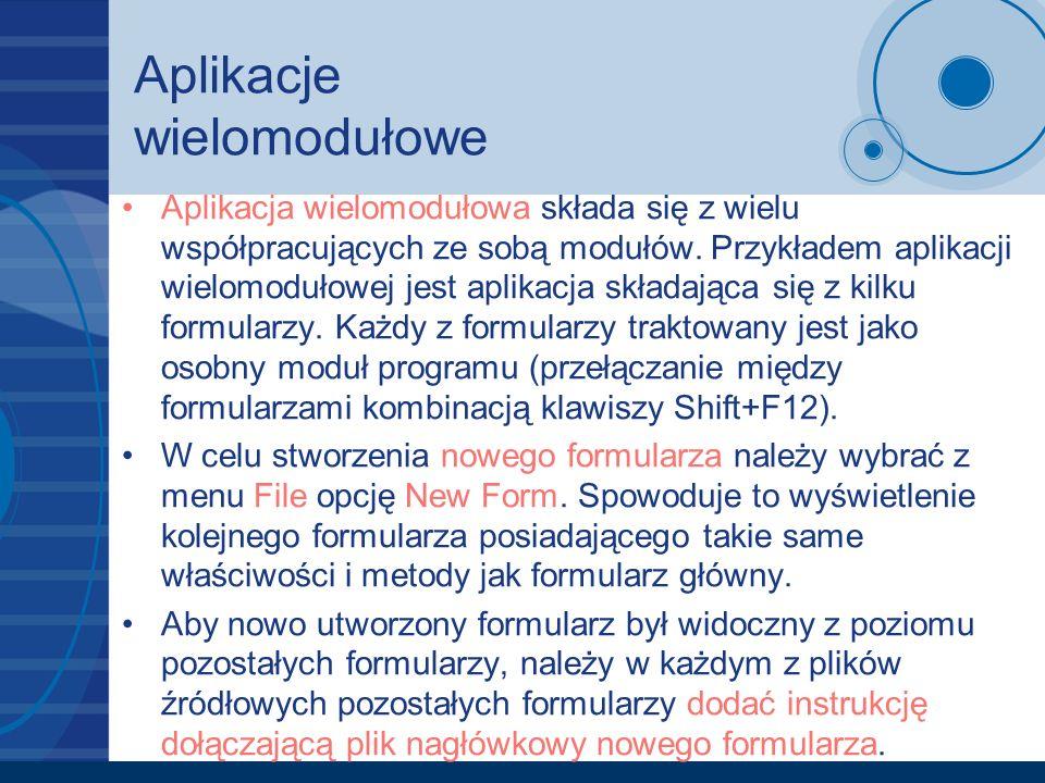 Aplikacje wielomodułowe