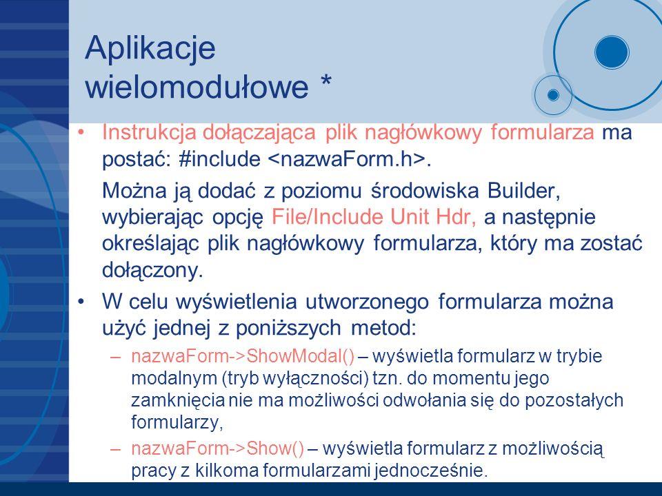 Aplikacje wielomodułowe *
