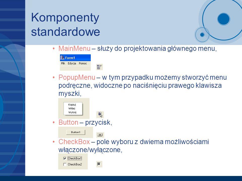 Komponenty standardowe
