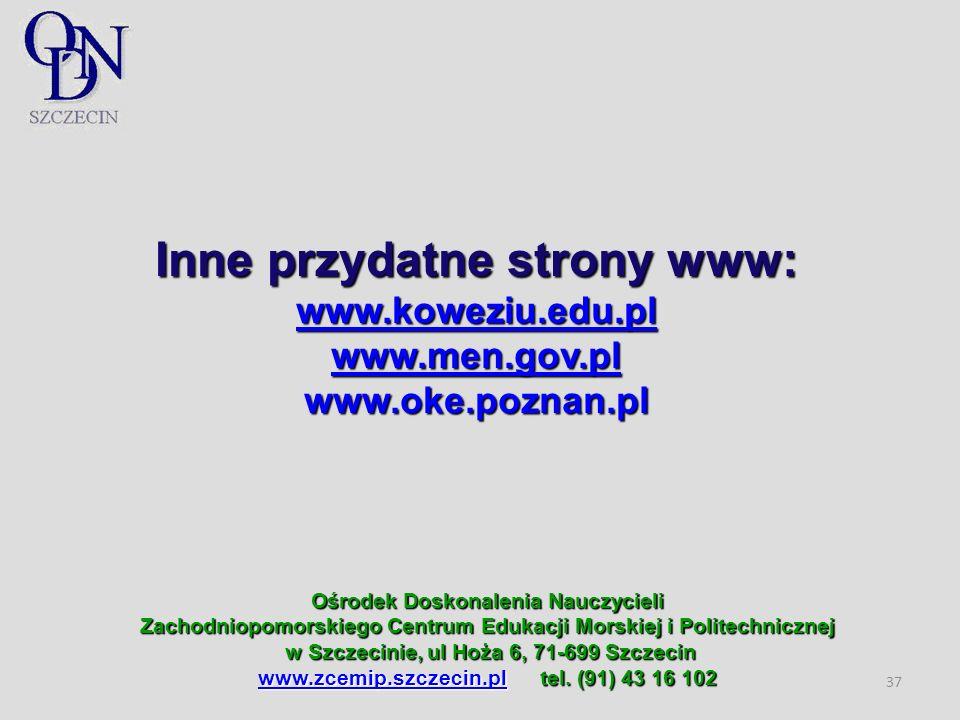 Inne przydatne strony www: