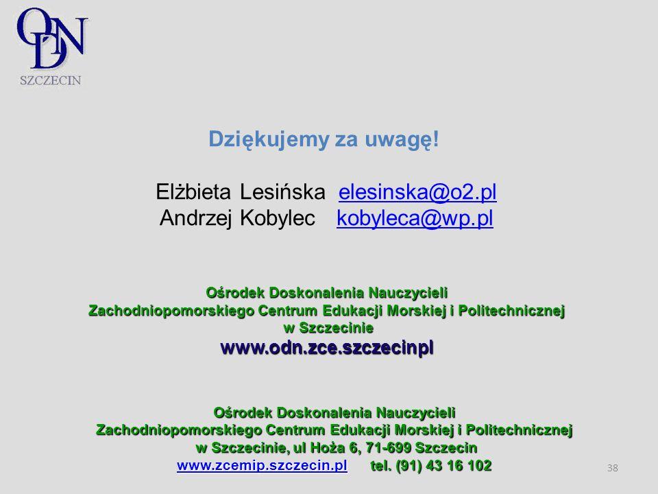 Elżbieta Lesińska elesinska@o2.pl Andrzej Kobylec kobyleca@wp.pl
