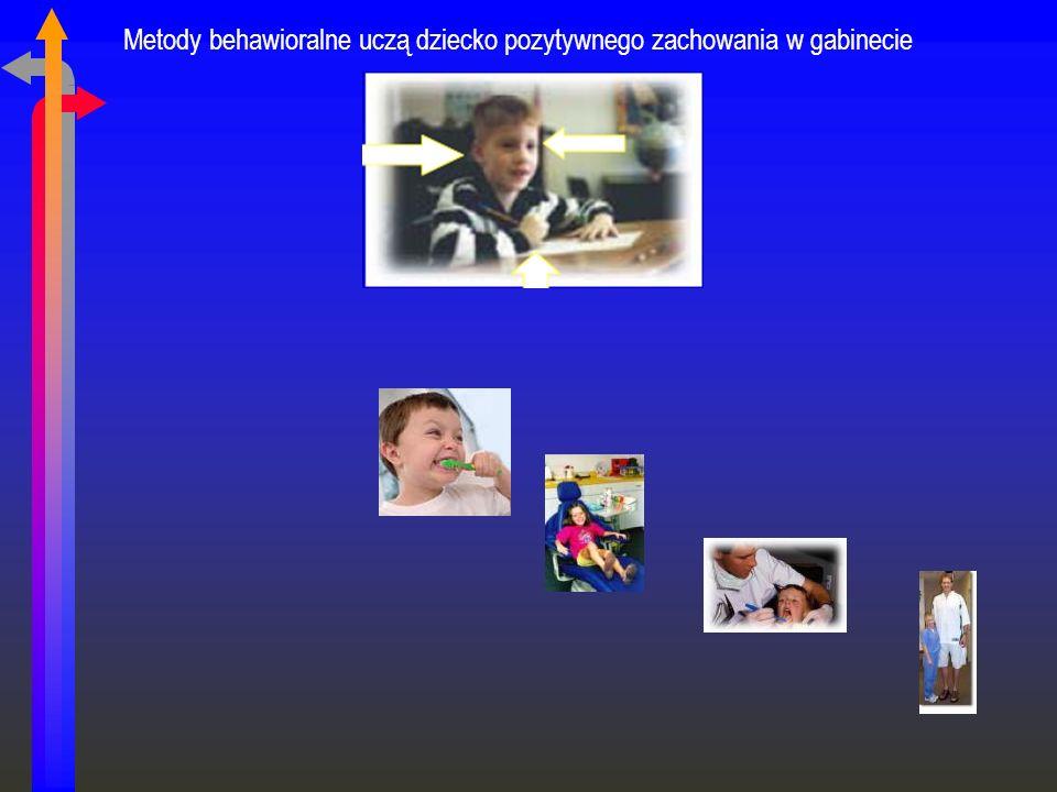 Metody behawioralne uczą dziecko pozytywnego zachowania w gabinecie