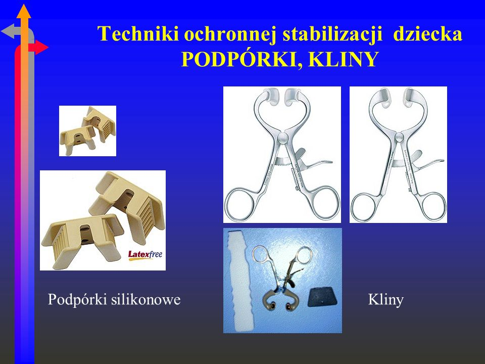 Techniki ochronnej stabilizacji dziecka PODPÓRKI, KLINY