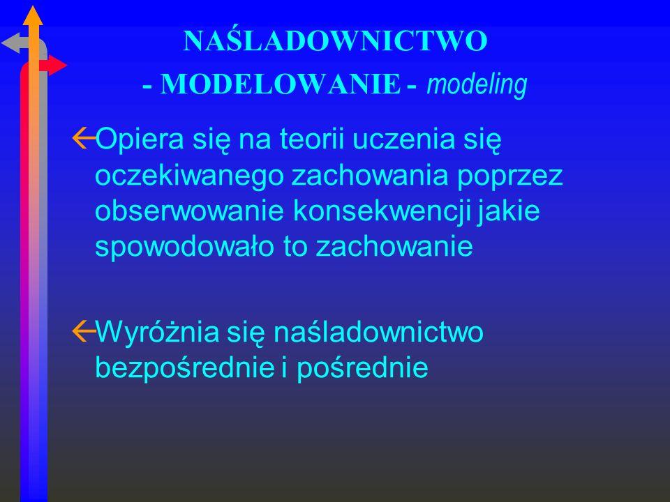 NAŚLADOWNICTWO - MODELOWANIE - modeling