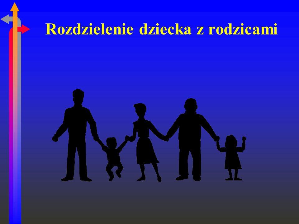 Rozdzielenie dziecka z rodzicami