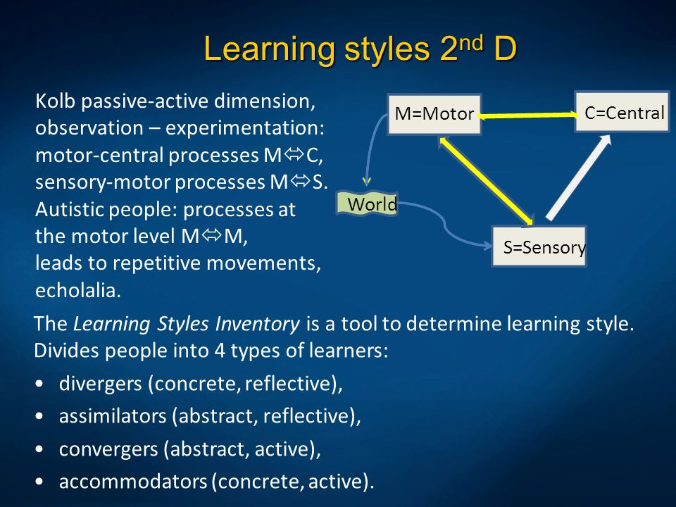 Learning styles 2nd D