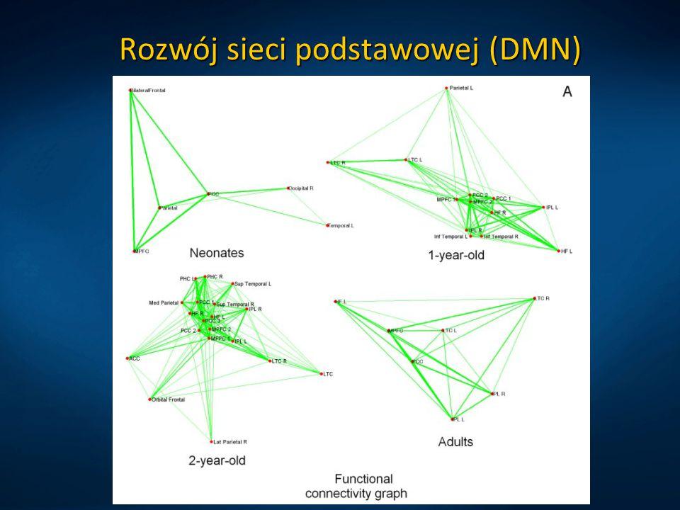 Rozwój sieci podstawowej (DMN)